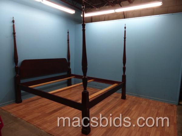 king size pencil post bed macs bids