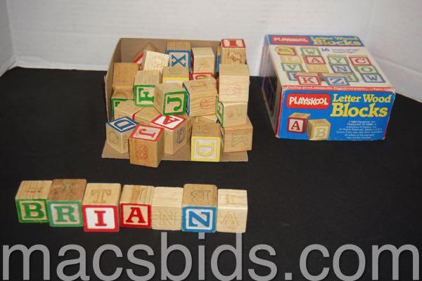 Playskool Letter Wood Blocks Macs Bids Archives
